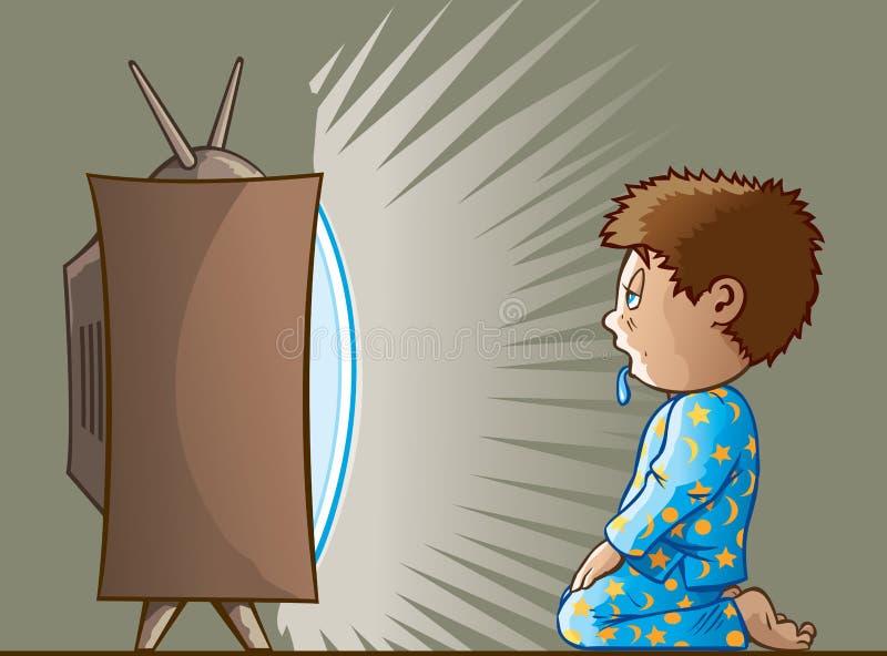 Enfant radotant illustration de vecteur