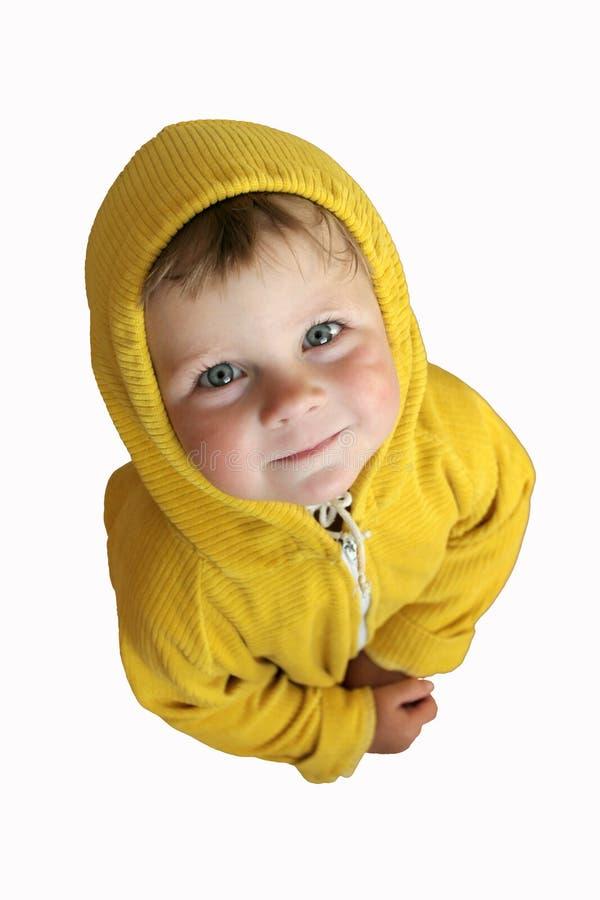 Enfant regardant vers le haut image libre de droits