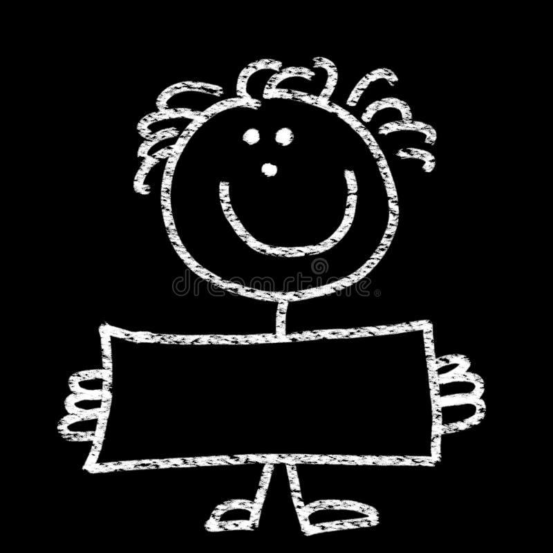 Enfant retenant un panneau blanc photographie stock libre de droits