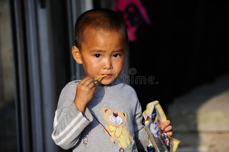 Enfant rural chinois photos stock