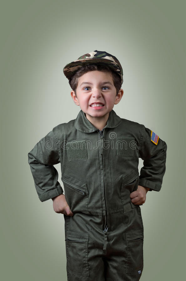 Enfant strict Boot Camp photos stock