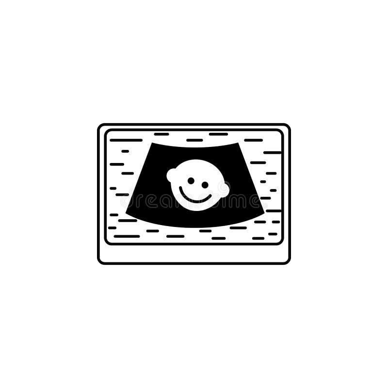 enfant sur l'icône diagnostique ultrasonique de Digital Élément des icônes d'instruments médicaux Icône de la meilleure qualité d illustration libre de droits