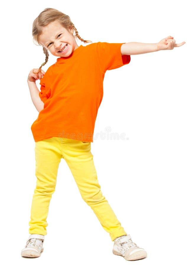 Enfant sur le blanc image libre de droits