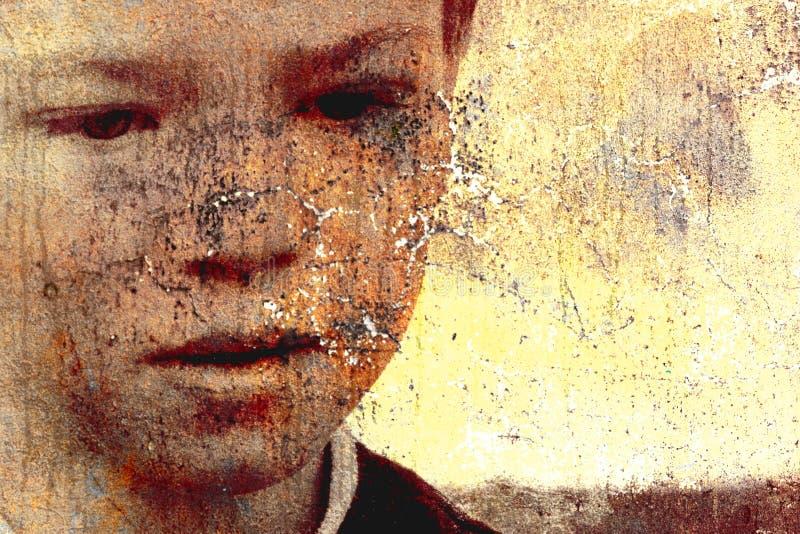 Enfant triste illustration stock