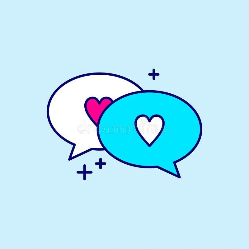 Enfantez \ 'icône bleue et rose de jour de s de couleur sur le fond bleu-clair v illustration libre de droits