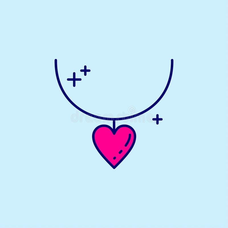 Enfantez \ 'icône bleue et rose de jour de s de couleur sur le fond bleu-clair v illustration stock