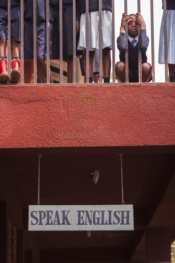 Enfants à l'école en Afrique photo stock