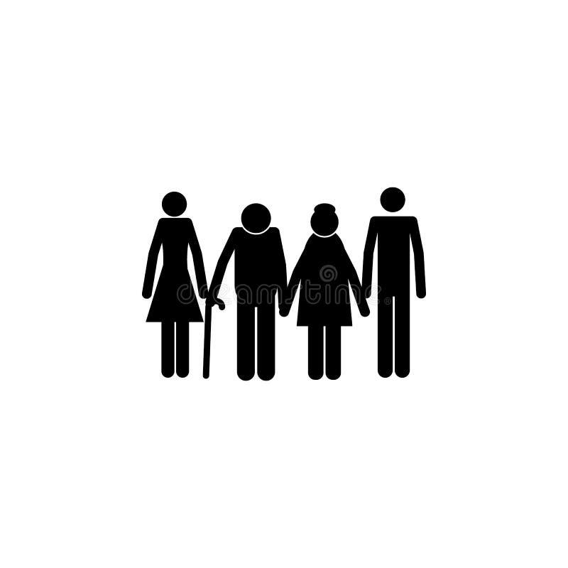 enfants adultes avec l'icône de parents Élément d'une icône heureuse de famille Icône de la meilleure qualité de conception graph illustration de vecteur