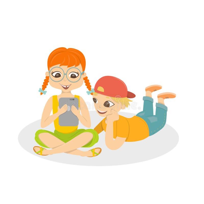 Enfants avec des instruments illustration de vecteur