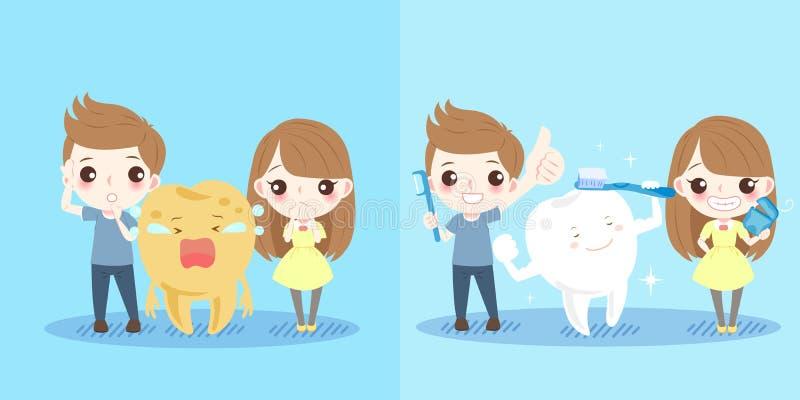 Enfants avec la santé de dent illustration stock