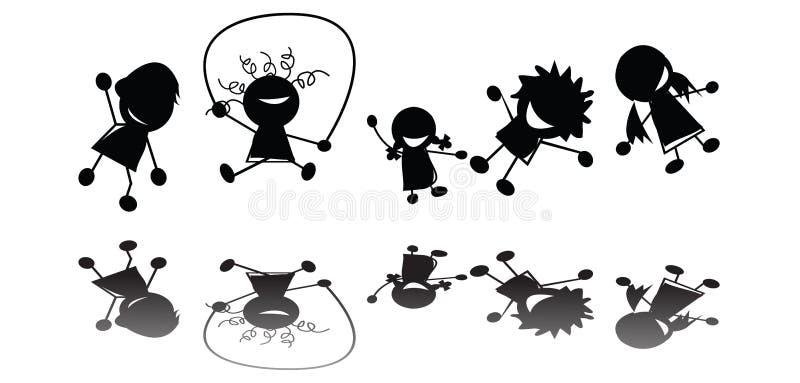 Enfants branchants illustration de vecteur