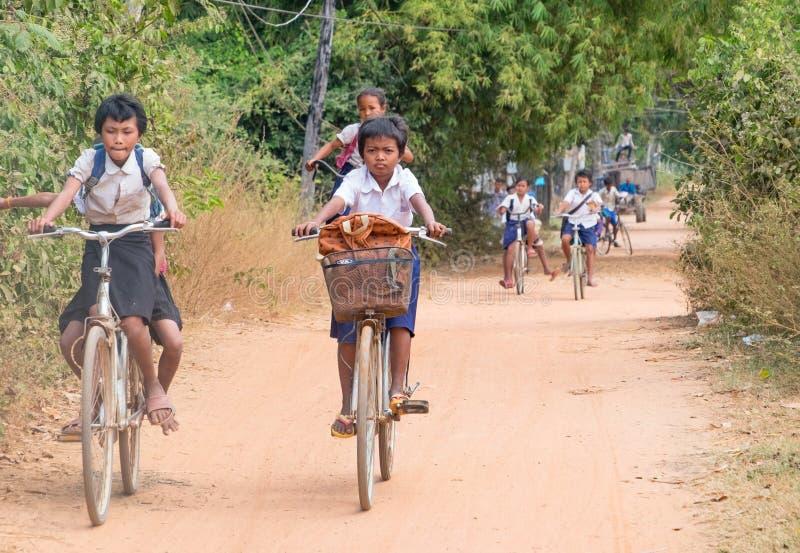Enfants cambodgiens images stock