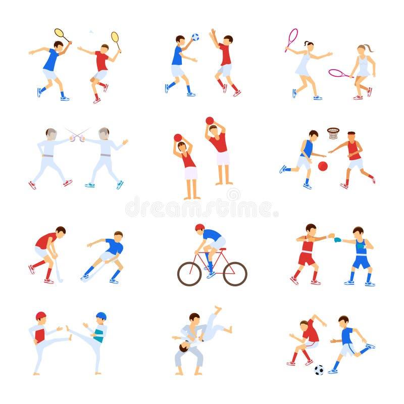 Enfants d'athlètes réglés illustration de vecteur