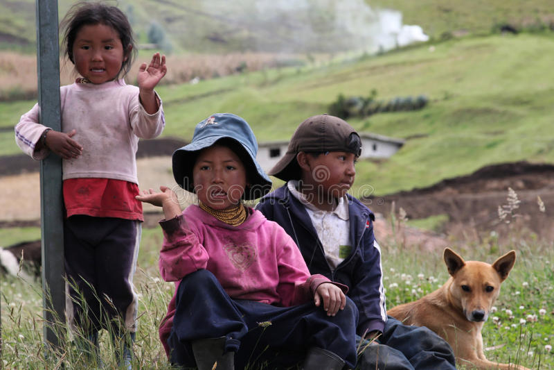 Enfants d'Ecuadorian images stock