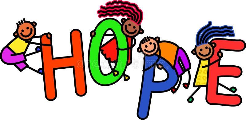 Enfants d'espoir illustration de vecteur
