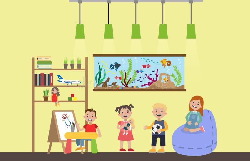 Enfants dans la chambre illustration de vecteur