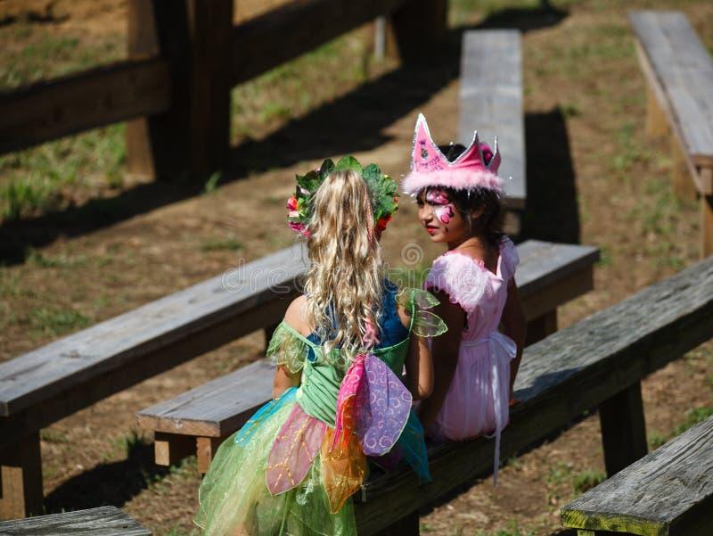Enfants dans le festival du Maryland de costume image stock