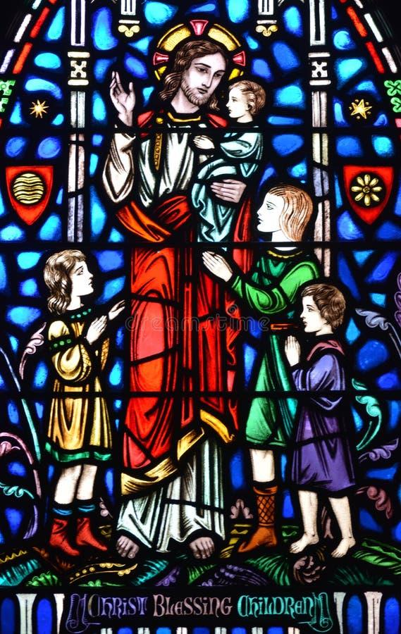 Enfants de bénédiction du Christ photo libre de droits