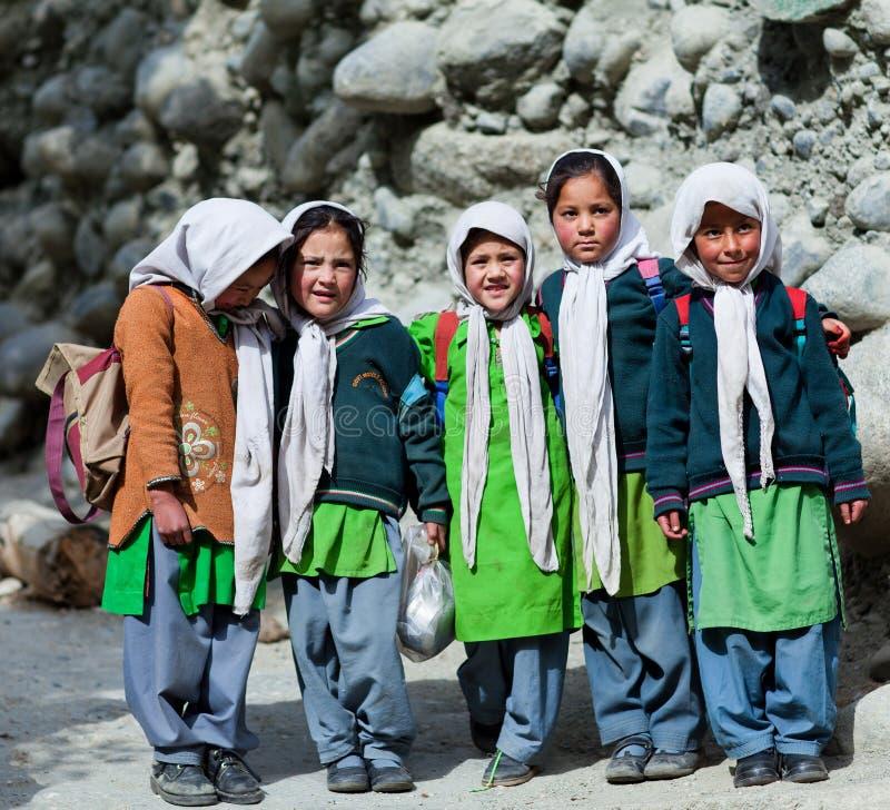 Enfants de Balti dans Ladakh, Inde photographie stock libre de droits