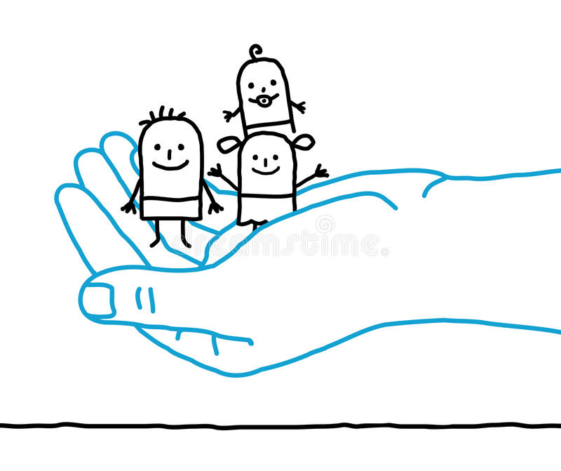 Enfants de bande dessinée - protection illustration stock