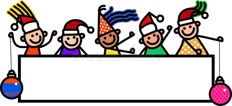 Enfants de bannière de Noël illustration stock