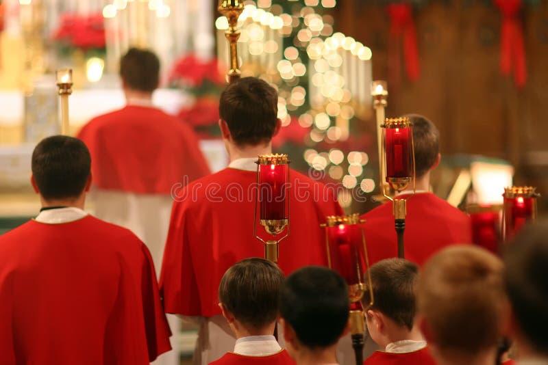 Enfants de choeur catholiques images stock