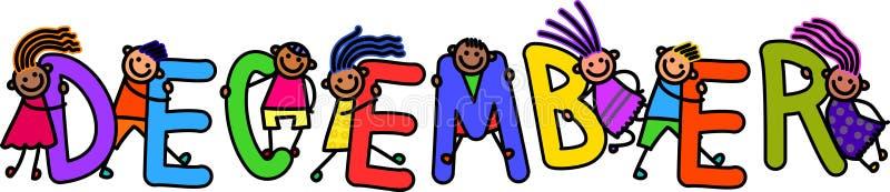 Enfants de décembre illustration libre de droits