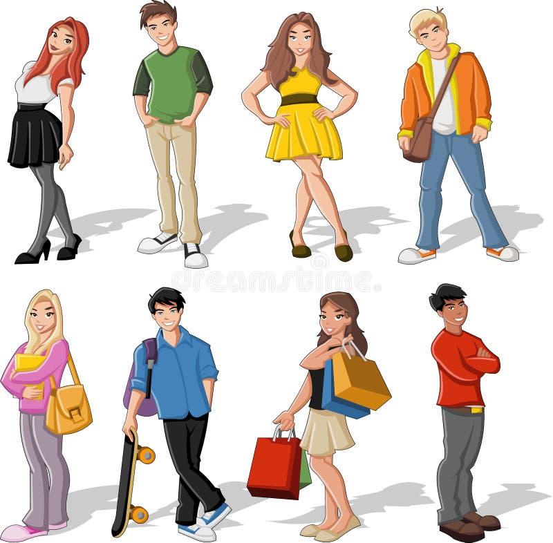 Enfants de dessin animé illustration stock