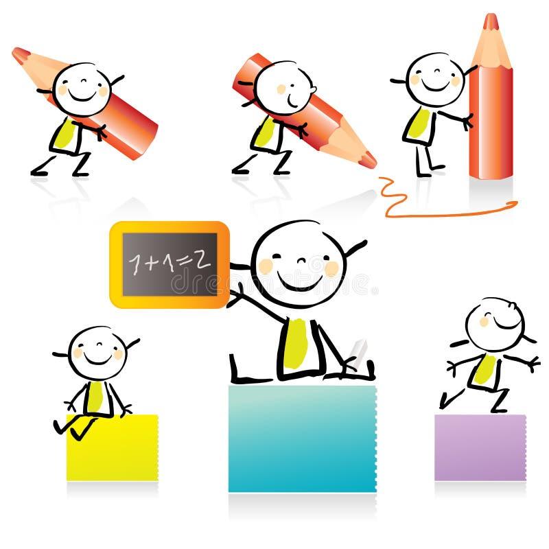 enfants de dessin animé illustration libre de droits