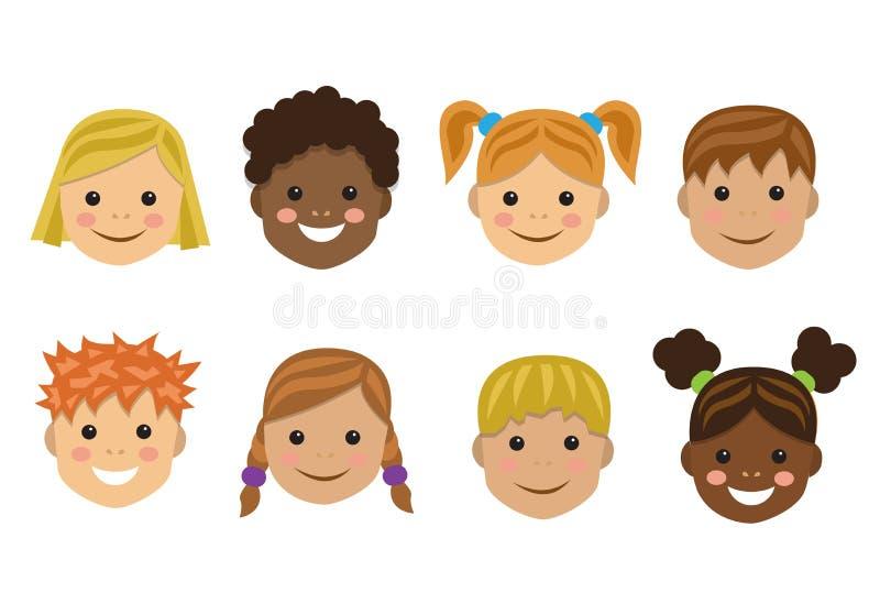 Enfants de différentes nations illustration libre de droits