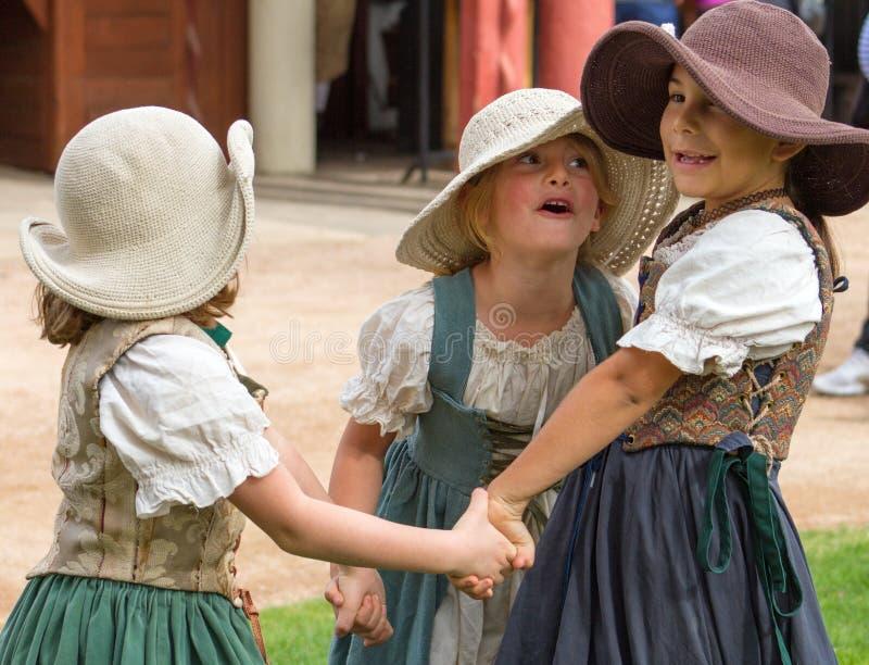 Enfants de festival de la Renaissance de l'Arizona image libre de droits