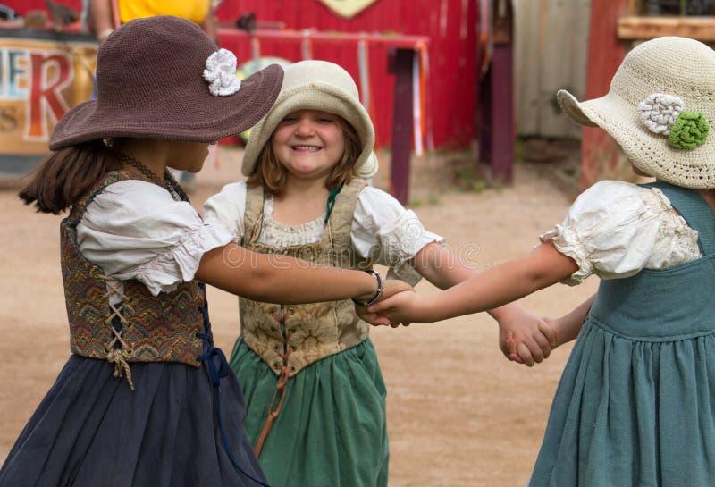 Enfants de festival de la Renaissance de l'Arizona photo stock
