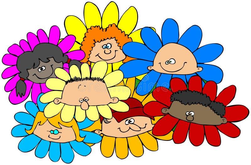 Enfants de fleur illustration de vecteur