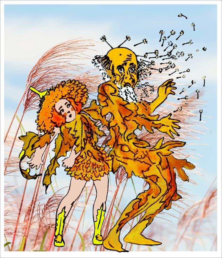 Enfants de fleur de pissenlit illustration stock