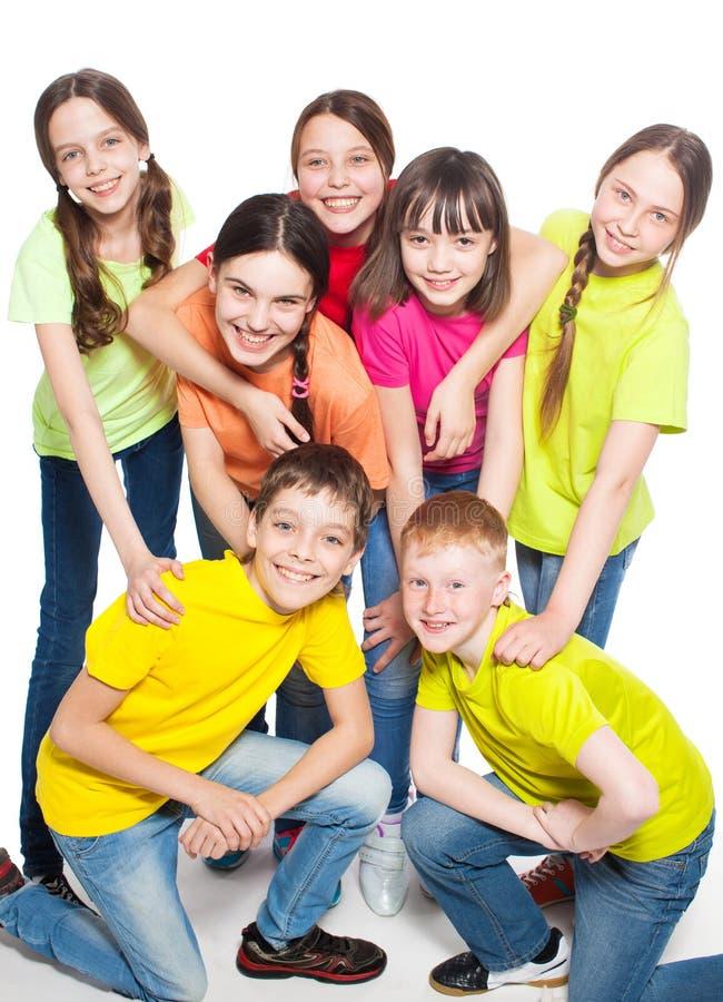 Enfants de groupe image stock