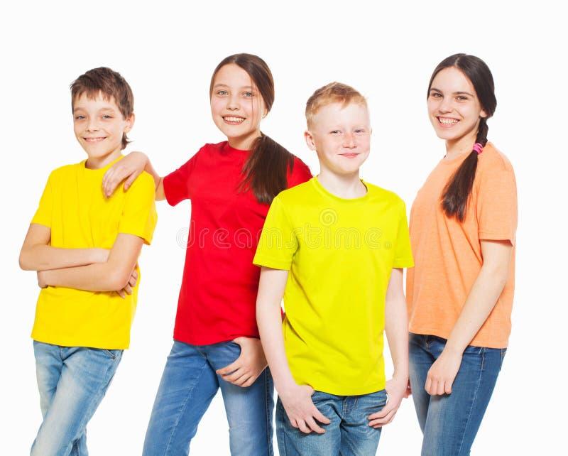 Enfants de groupe photographie stock