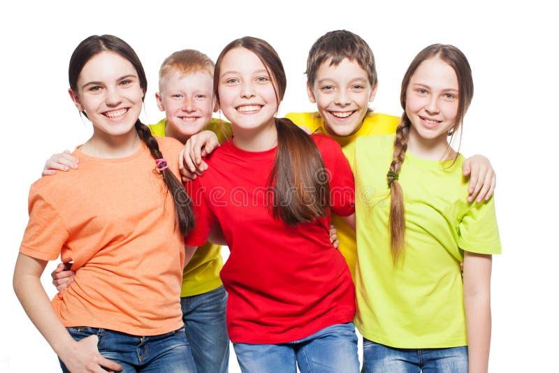 Enfants de groupe photographie stock libre de droits