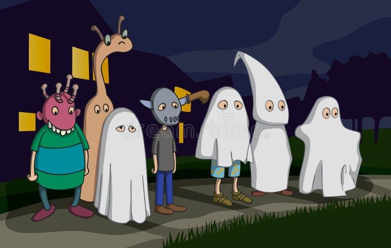 Enfants de Halloween illustration stock