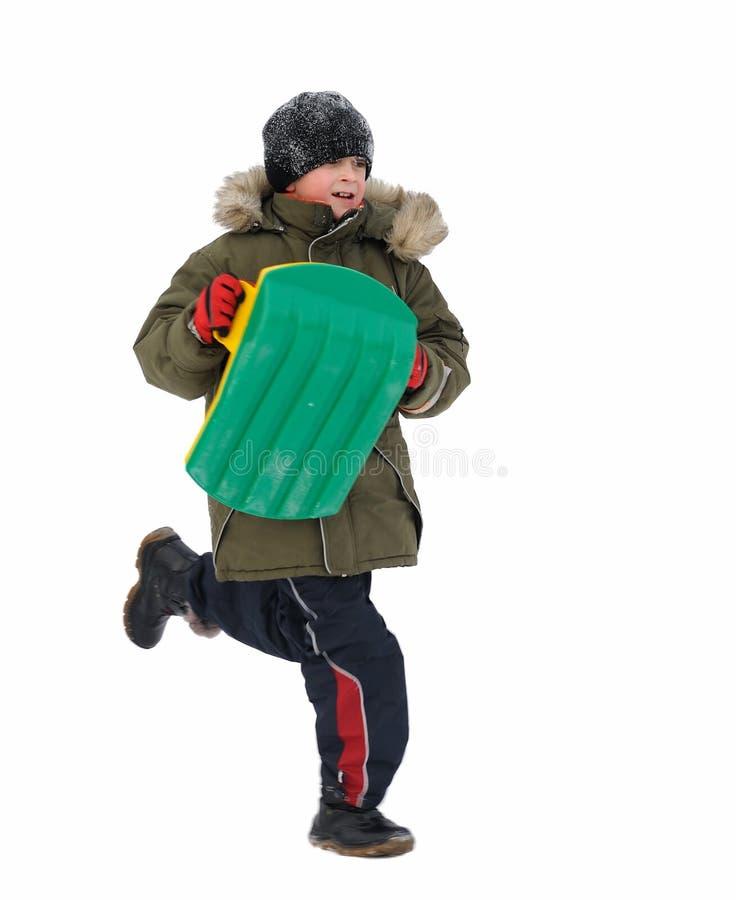 Enfants de jeux de l'hiver photographie stock