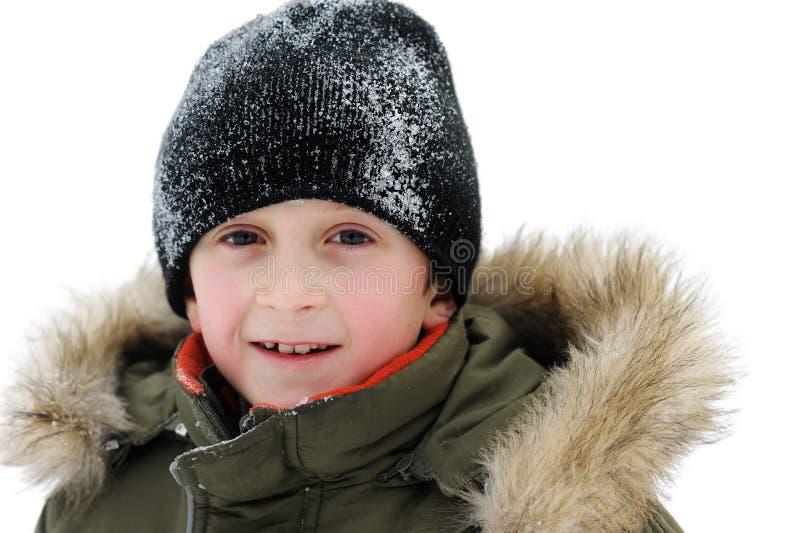 Enfants de jeux de l'hiver image libre de droits