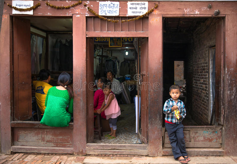 Enfants de Katmandou photo stock