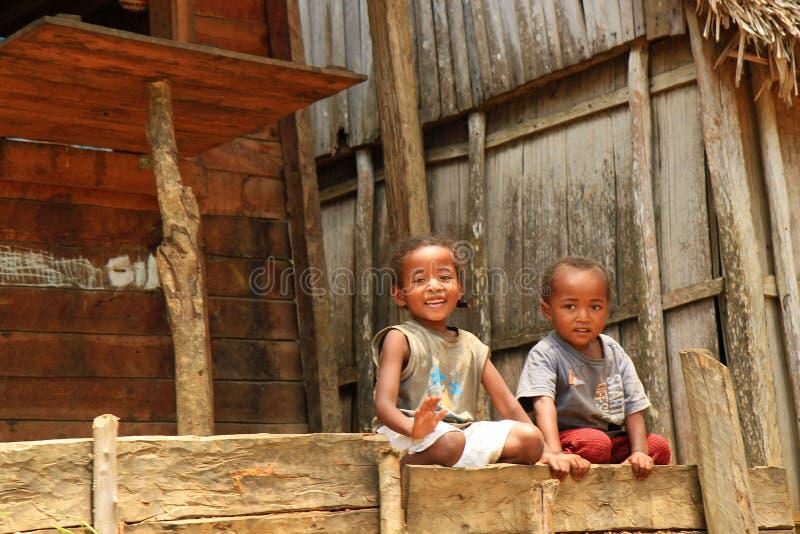 Enfants de l'Afrique, Madagascar photo stock