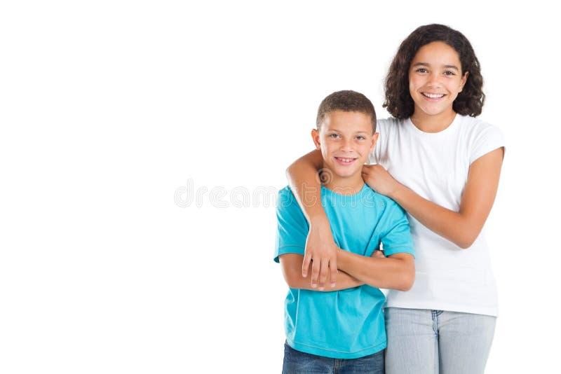 Enfants de mêmes parents images stock