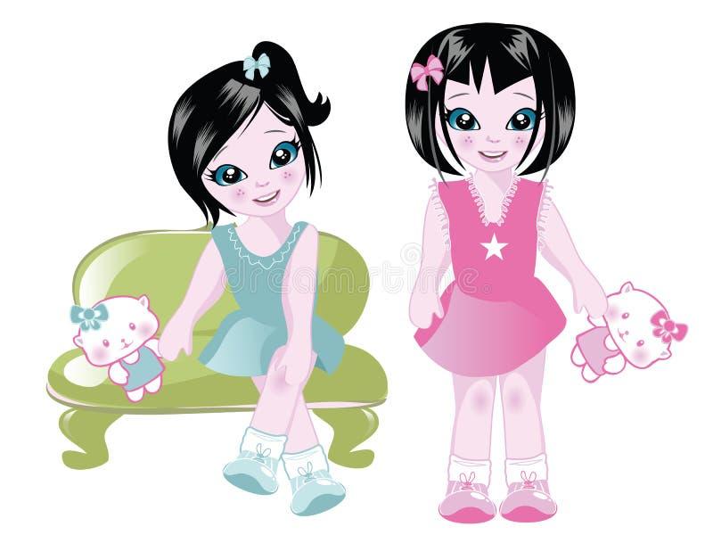 Enfants de mêmes parents illustration de vecteur