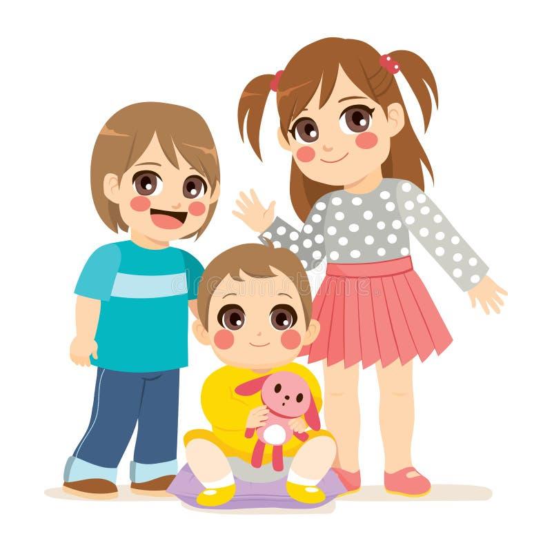 Enfants de mêmes parents mignons illustration libre de droits