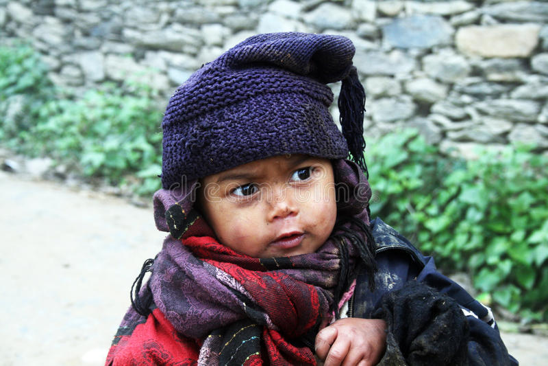Enfants de Nepali photos stock