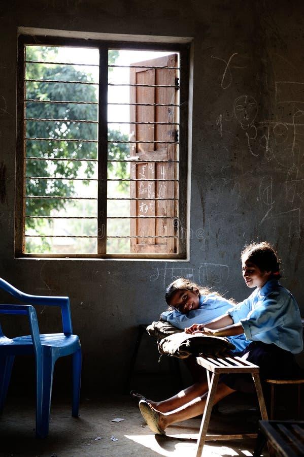 Enfants de Nepali images libres de droits