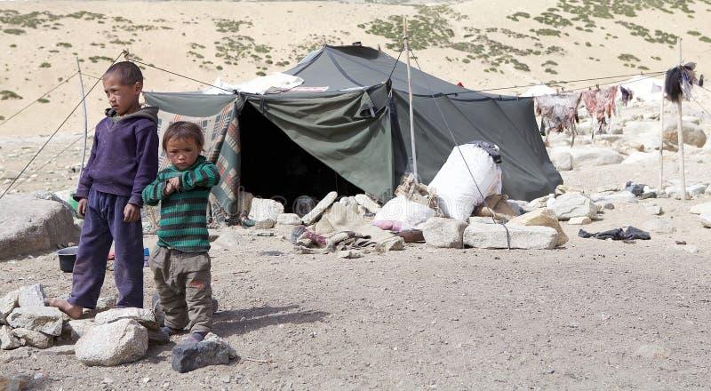 Enfants de nomade dans Ladakh, Inde photo libre de droits