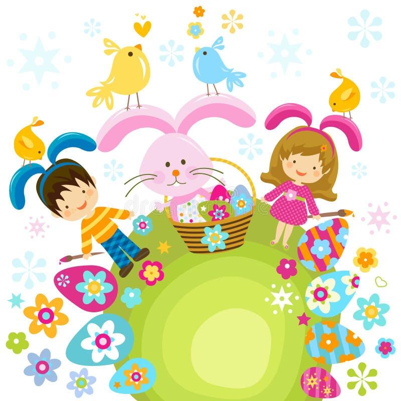 Enfants de Pâques illustration stock
