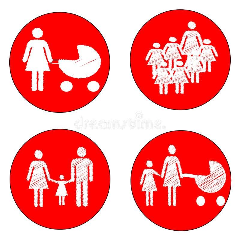 Enfants de précaution de signe illustration stock